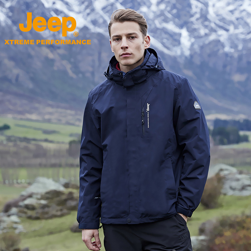 jeep flagship store official authentic Jeep jackets male Tide brand three-in-one waterproof work clothes outdoor mountaineering clothing