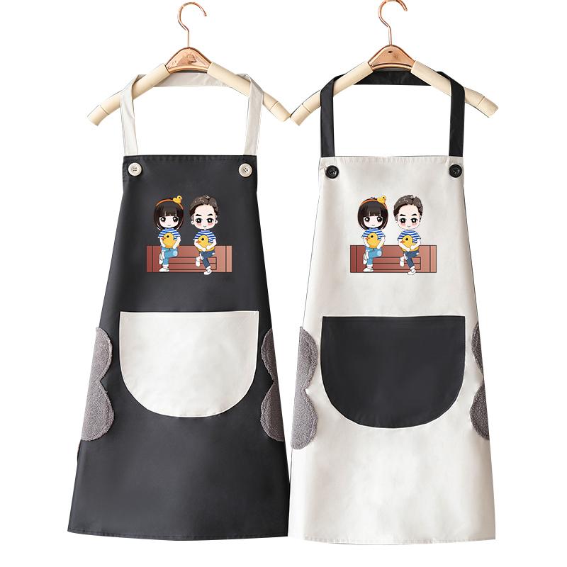 围裙家用厨房女防水防油韩版时尚可爱日系可擦手工作男围腰裙子式