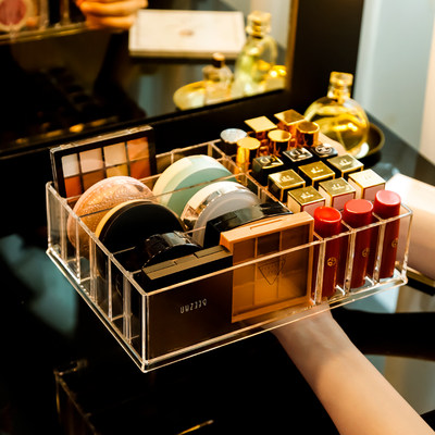 Lipstick box storage box desktop cosmetic rack net red dressing table multi-volume capacity package home