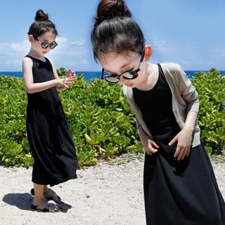 Платья, юбки,  Девочки платье хлопок жилет платье песчаный пляж юбка летний костюм корейский ребенок юбка ребенок в заправила платье сын, цена 221 руб