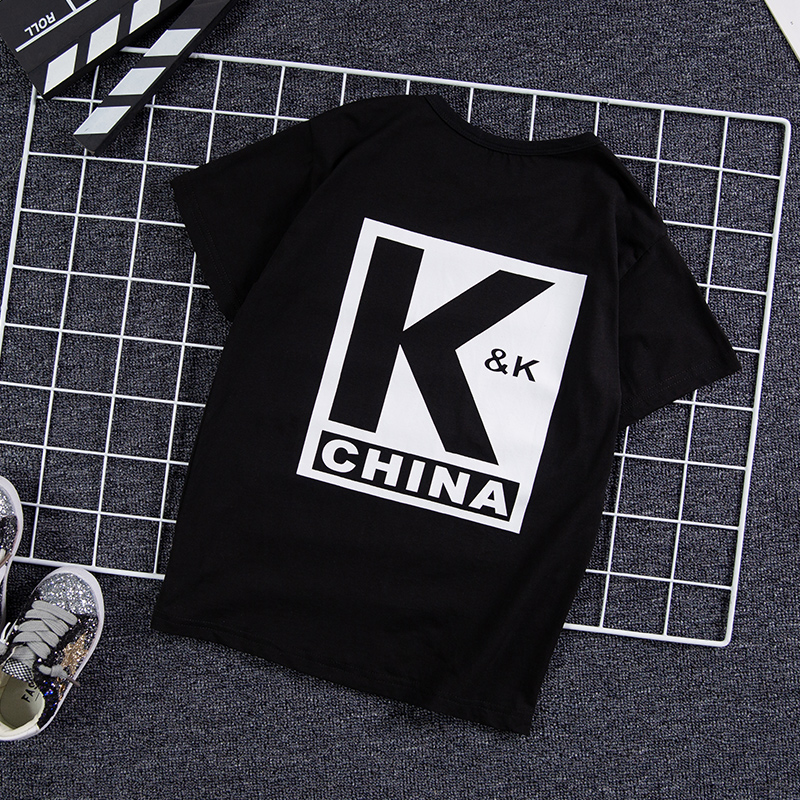 。 Boys summer dress comfortable short-sleeved T-shirt 8 children fashion KK vest Korean version of the big boy 2020 summer new clothes.
