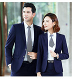 Autumn and winter men's and women's professional suit overalls Wei Pai WEY formal wear Great Wall Haval 4S shop blue suit three-piece suit