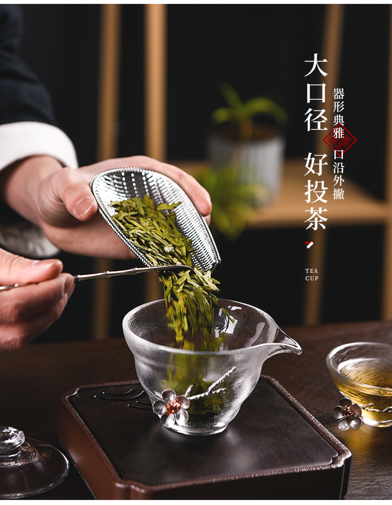 Ceramic story tureen household Japanese contracted and high temperature resistant glass hammer kung fu tea sets tea bowl cups