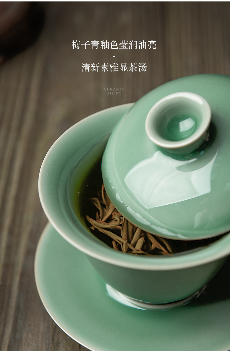 Ceramic story tureen single is not a hot cup of jingdezhen tea service heat - resistant household size 3 to make tea tureen