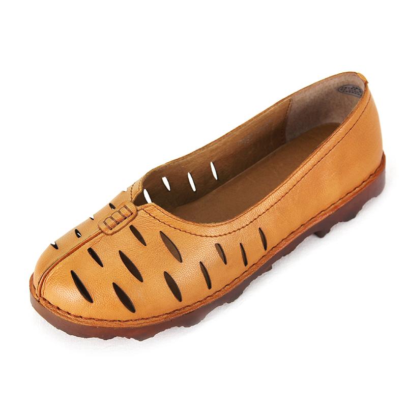 康奈女鞋 2017夏季新款凉鞋甜美学院风1271925帖色浅口真皮鞋子