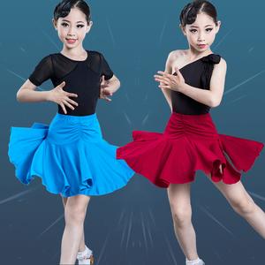 Girls Latin Dance Dresses Dan dyers season children Latin dance dress children girls training professional girls standard competition training skirt