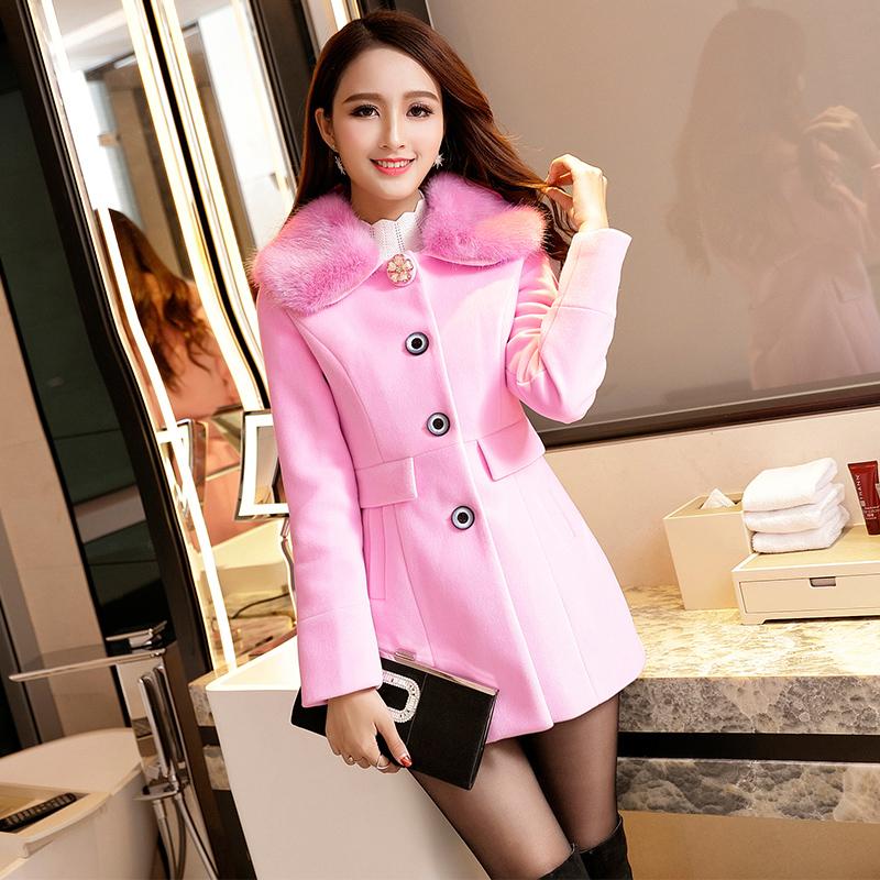 Quần áo mùa thu đông 2019 mới của Hàn Quốc phong cách Hàn Quốc hợp thời trang eo thon, áo len dày cho nữ áo len dài giữa - Áo Hàn Quốc