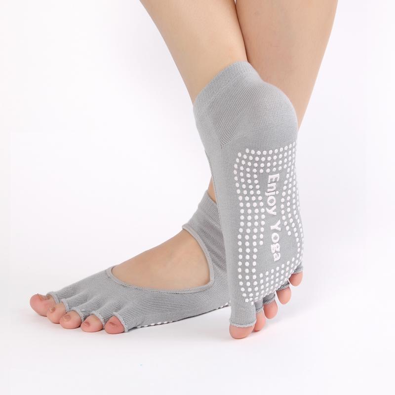 Открытая носка серый