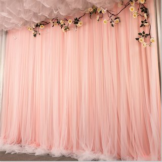 Wedding stage background gauze decoration wall mesh wedding cloth curtain net celebrity live curtain birthday scene layout