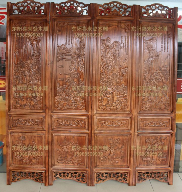 ширма Sheraton carved wooden