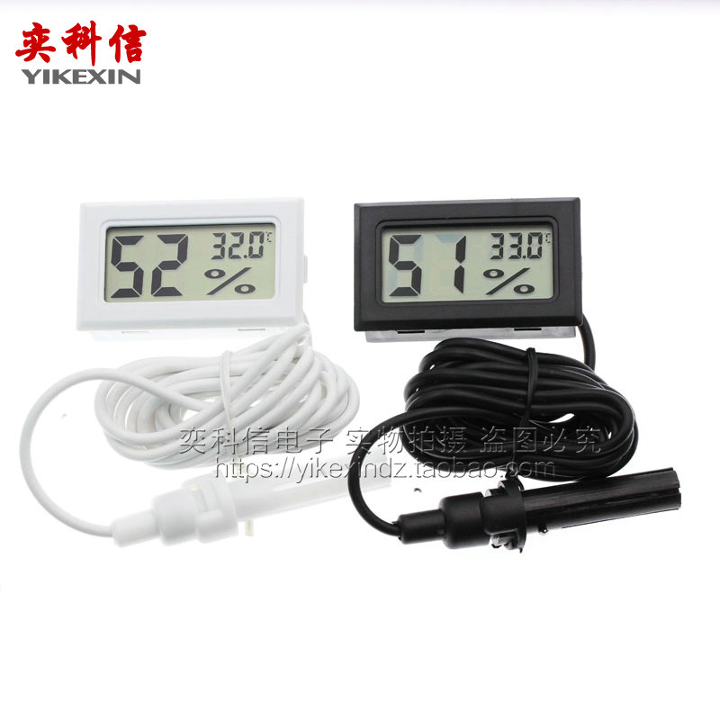 Mini embedded thermometer and hygrometer electronic hygrometer digital thermometer and hygrometer with probe thermometer with line