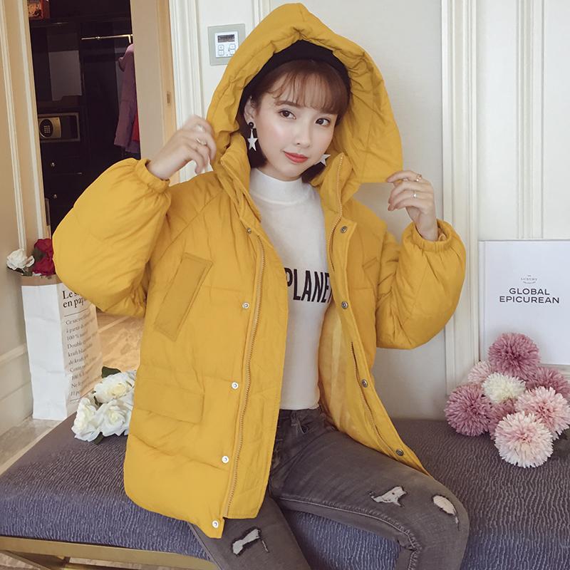 韩版短款ins棉袄羽绒棉女棉服外套