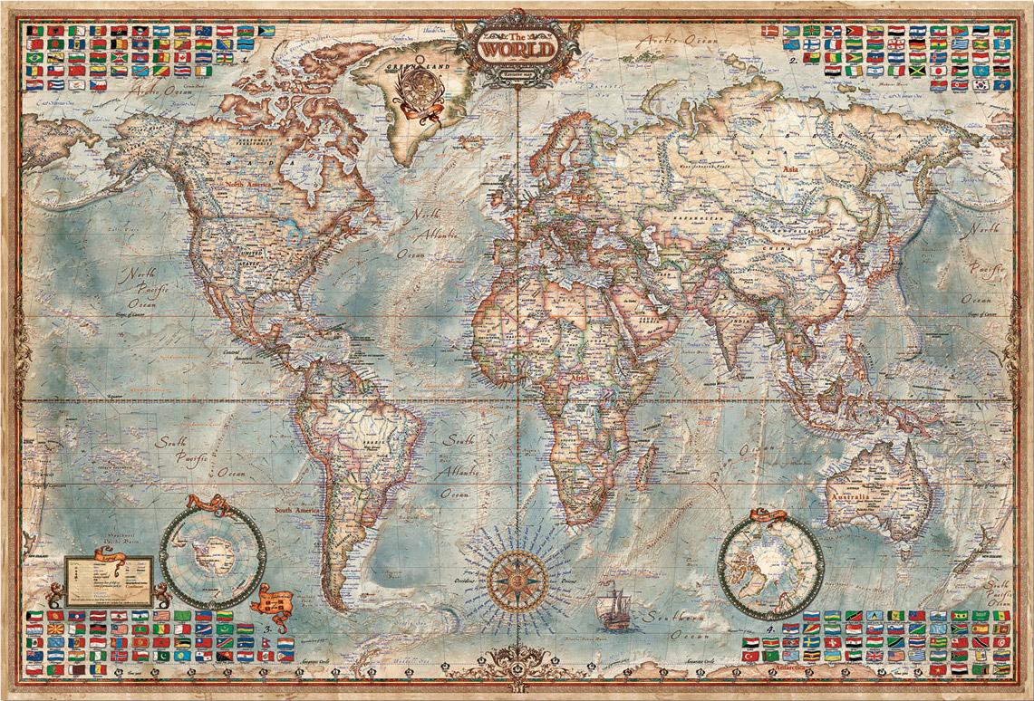 Usd 91 45 Spot Educa World Map Administrative Landmark 4000 Piece
