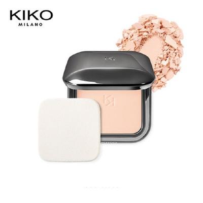KIKO哑光粉饼控油持久自然定妆干湿两用遮瑕带粉扑spf25官方正品#