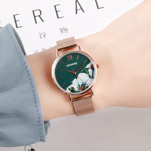 Ултра тънък часовник женски прости ins стил темперамент компактни ретро женски модели дами момичета гледат студентки малък циферблат