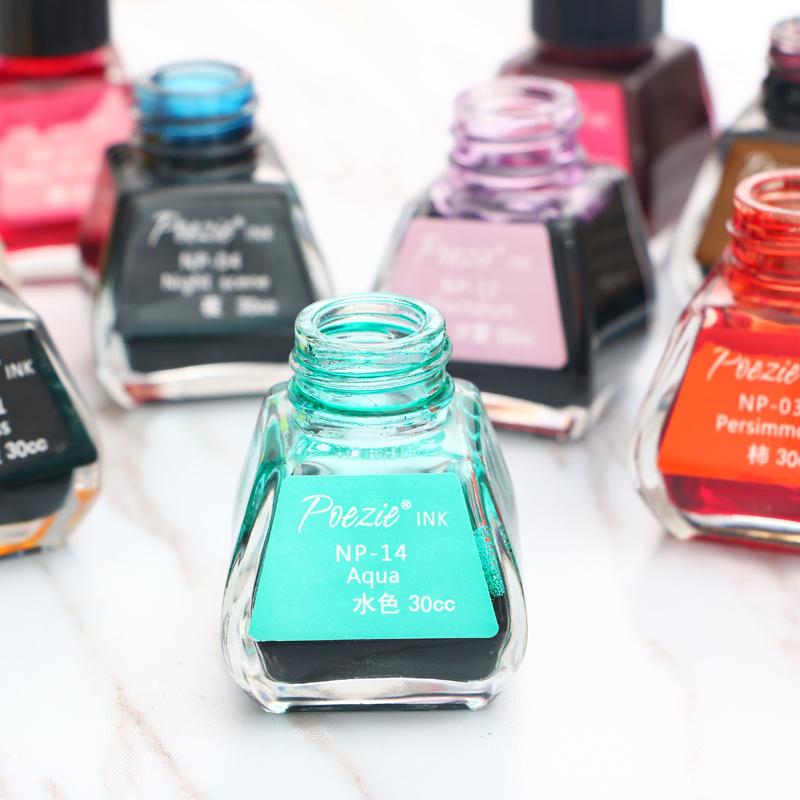 Бесплатная доставка поэзия цвет POEZIE INK цветной сталь карандаш чернила не блок карандаш содержащих черный регулируемый цвет углерод 30ml