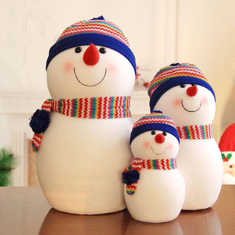 圣诞节饰品装饰装饰品老人布置场景雪人娃娃公仔摆件道具圣诞玩偶