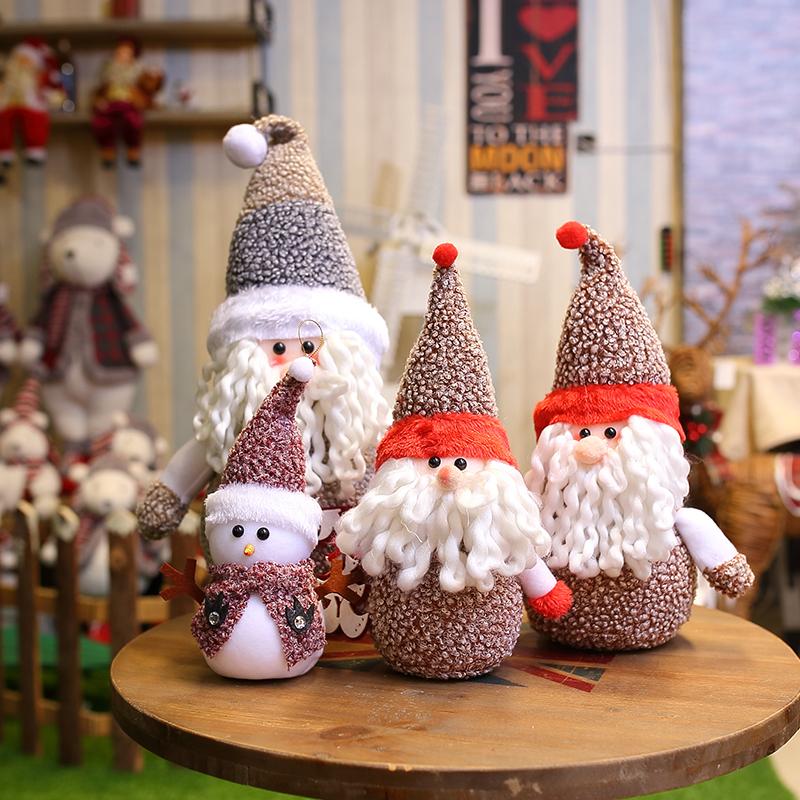 圣诞节摆件布置装饰品场景装饰圣诞老人娃娃公仔道具雪人玩偶饰品