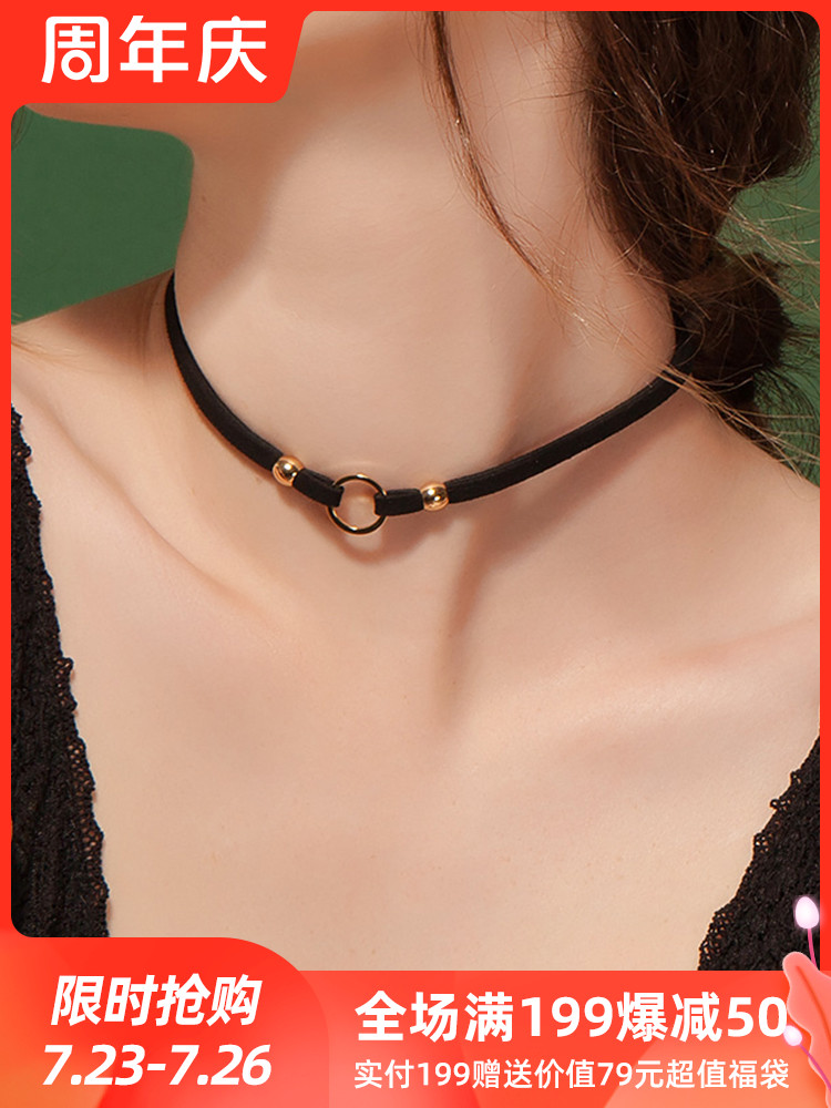 Clavicle chain Women's short money ring Net red neckband Necklace Neck strap Neck chain Jewelry necklace choker chain