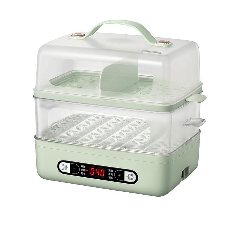 小熊煮蛋器家用多功能蒸蛋器可预约定时智能双层大容量早餐机神器