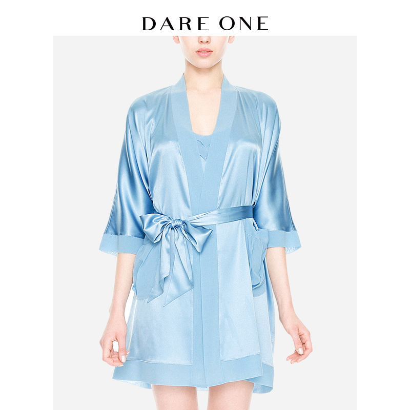 DARE ONE D-light Luxury star with imported silk pajamas home service  classic long robe 7a47d6bed