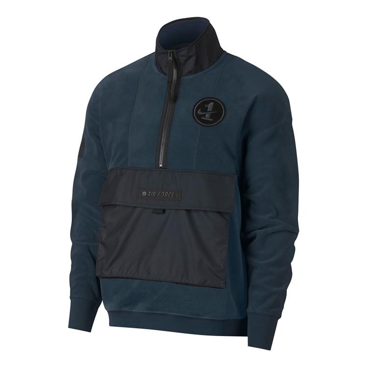 耐克 NIKE AF1男装运动休闲半拉链加绒卫衣针织套头衫 AJ0802-454