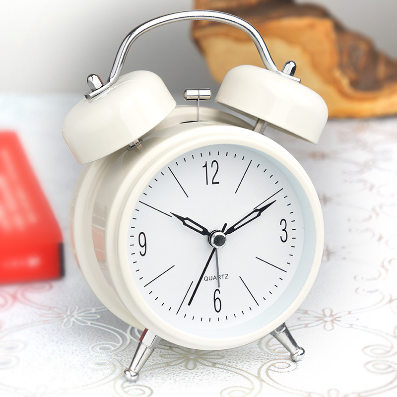 Cuyou Super Loud Alarm Clock Creative Luminous Mute Bedside Student Simple Modern Bedroom Personality Small