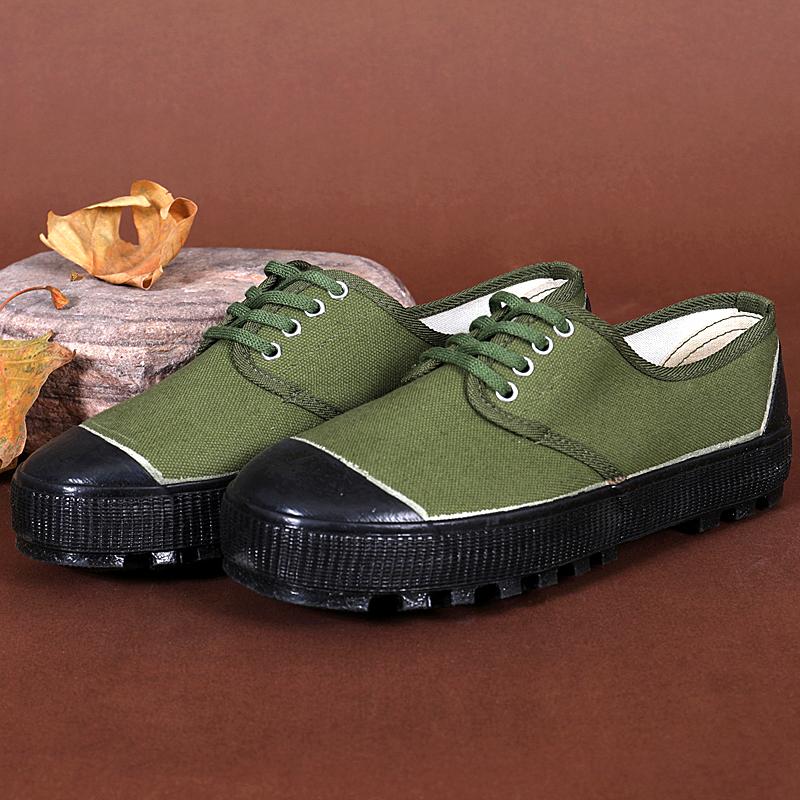 解放鞋男民工帆布鞋干活工地劳动耐磨透气户外胶鞋劳保农田迷彩鞋