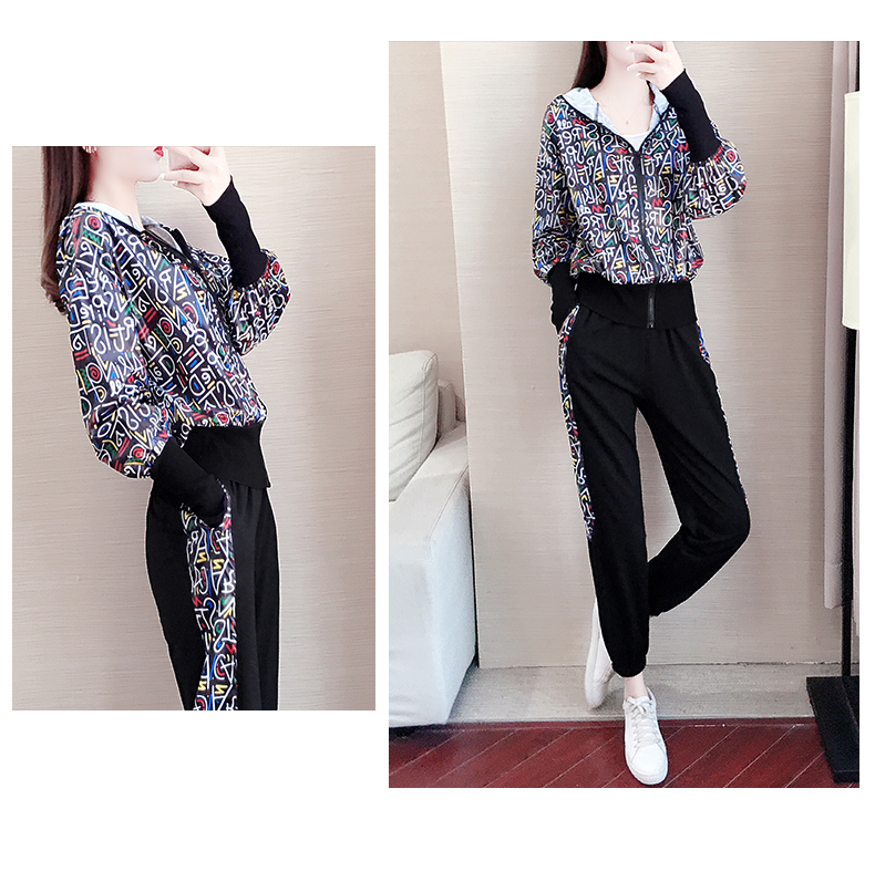Spring/Autumn 2020 new long-sleeved sports suit women's fashion show thin cardigan casual two-piece set 54 Online shopping Bangladesh