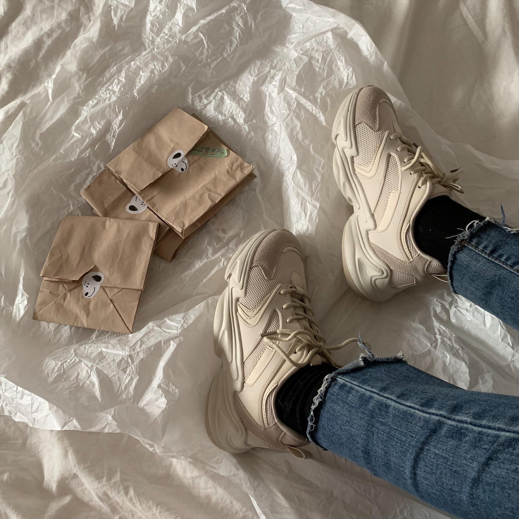 墨染·許劉芒 2121春季正韓ulzzang原宿風百搭街拍香港ins休閒跑步女鞋