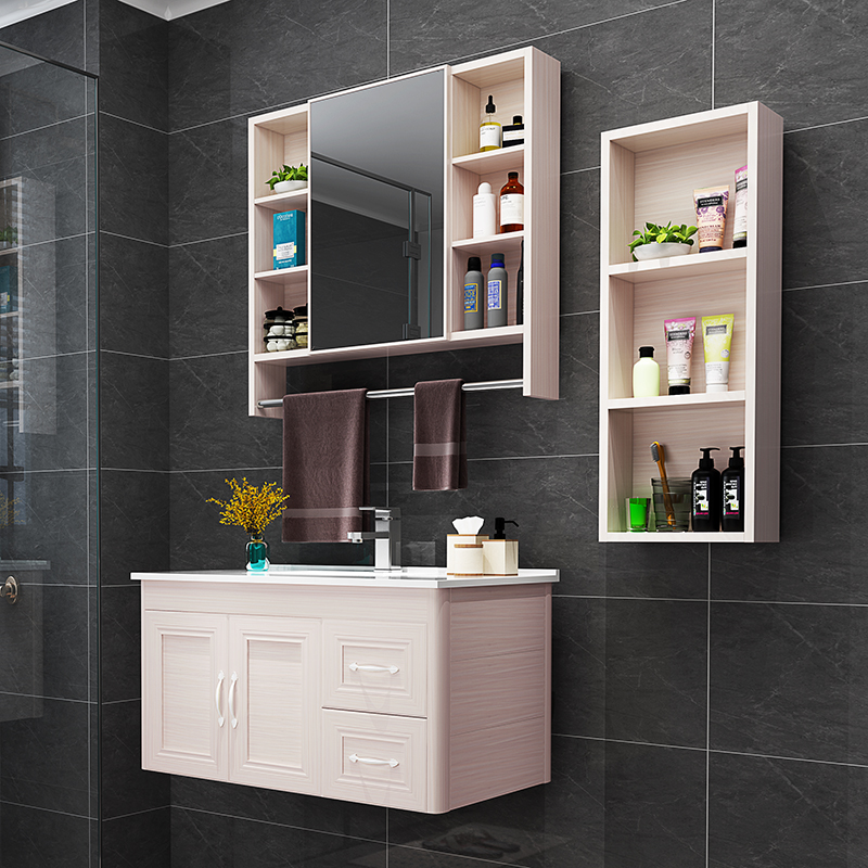 Bathroom Side Cabinet Space Aluminum Cabinet Storage Wall Hanging