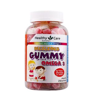 Healthy Care欧米伽omega3深海鱼油儿童青少年营养水果软糖250粒