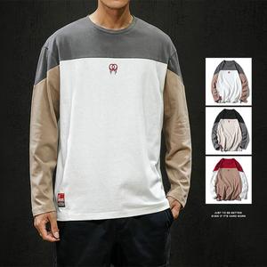 秋季长袖打底衫t恤男士2019新青少年潮流韩版休闲秋衣男式长袖T恤
