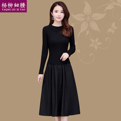 Autumn 2020 new long-sleeved dress Western style lady female high-end big temperament mother dress Spring and Autumn