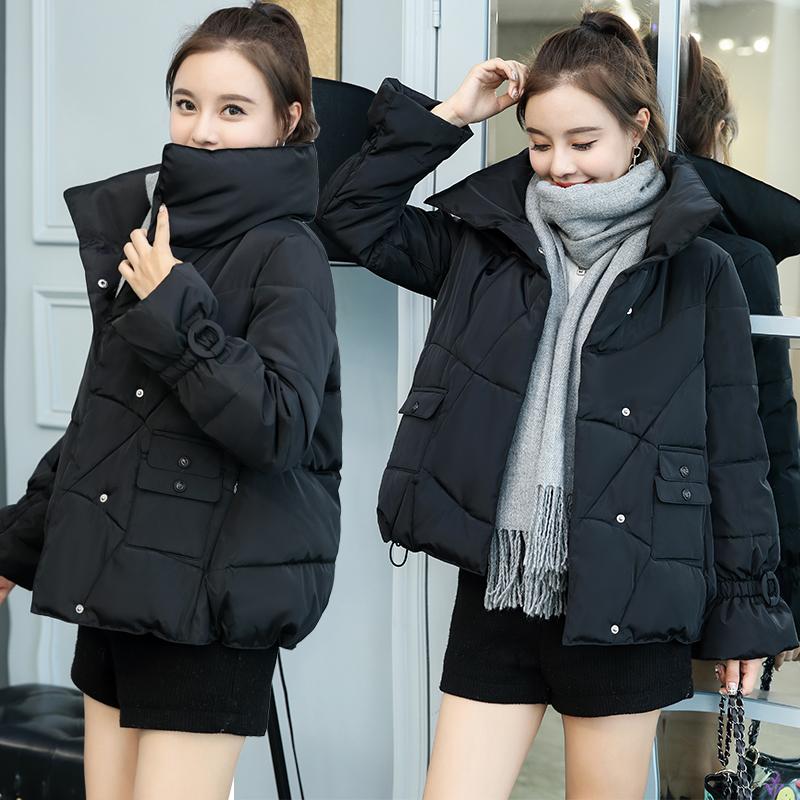 反季棉服女短款2019新款韩版面包服学生羽绒棉服加厚棉袄冬季外套