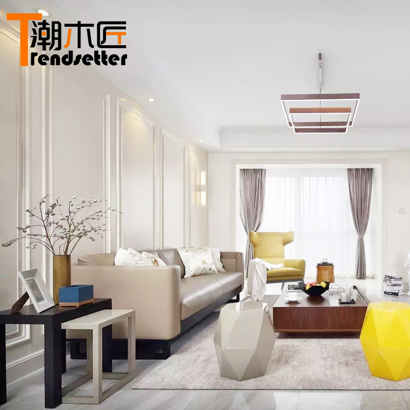 Solid Wood Wall Panels Invisible Door Overall Background Wall White Wall  Dress Living Room Simple European
