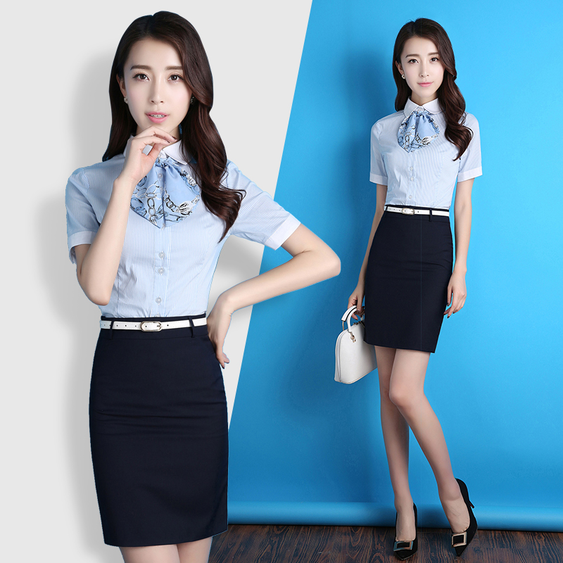 Summer professional dress women's dress dress temperament body OL formal women's short-sleeved professional set fashion interview work clothes