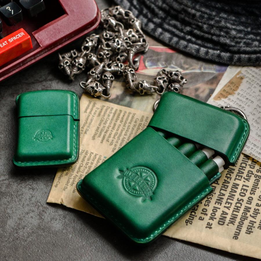 Цвет: Винтажный зеленый костюм (портсигар+зажигалка)