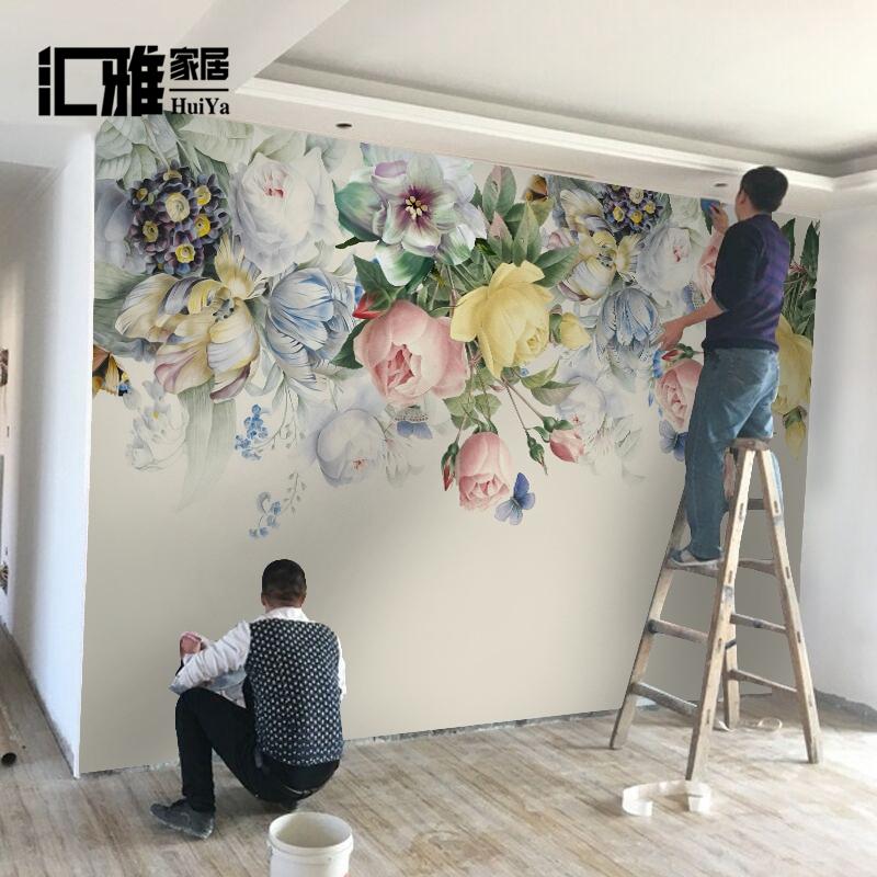 现代简约3D立体电视背景墙壁画客厅墙纸影视墙布装饰5D无纺布壁纸