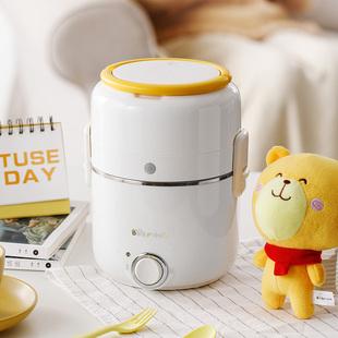 小熊电热饭盒双层可插电加热保温