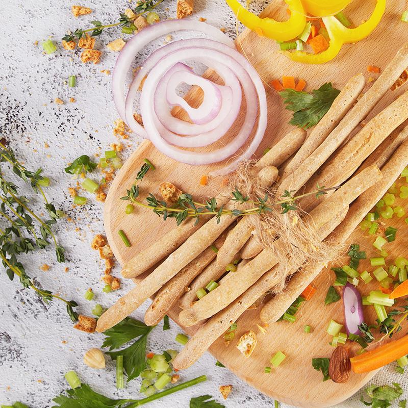 零食a零食意式阿拉棒饼干薄荷磨牙棒风味低脂饱腹咸香手指160g