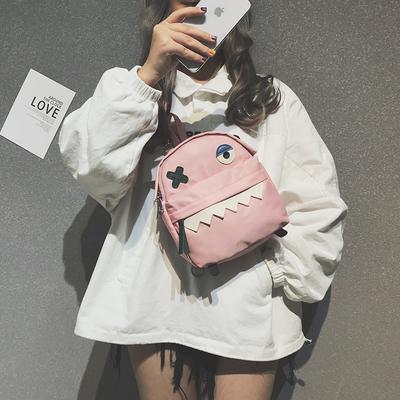 ins超火小包包女2019新款潮韩版百搭原宿风双肩包可爱休闲小背包