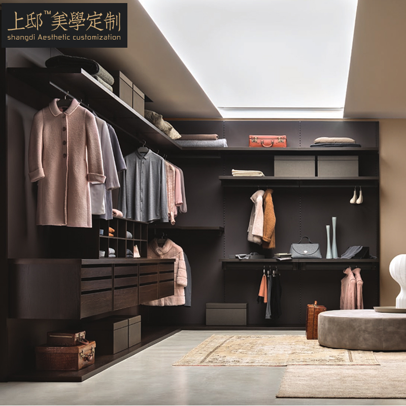 Bedroom Closet Custom Modern Minimalist Back Hanging Cloakroom Custom  Bedroom Wardrobe Open Wardrobe Cloakroom
