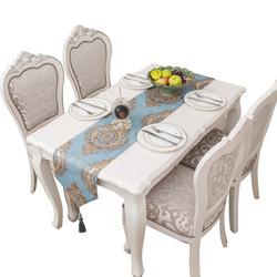 欧式高档雪尼尔餐桌旗布高档电视柜布茶几旗美式时尚长条桌布