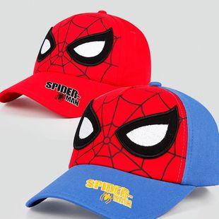 迪士尼儿童帽子蜘蛛侠美队男童棒球帽潮春秋宝宝鸭舌帽夏薄款遮阳