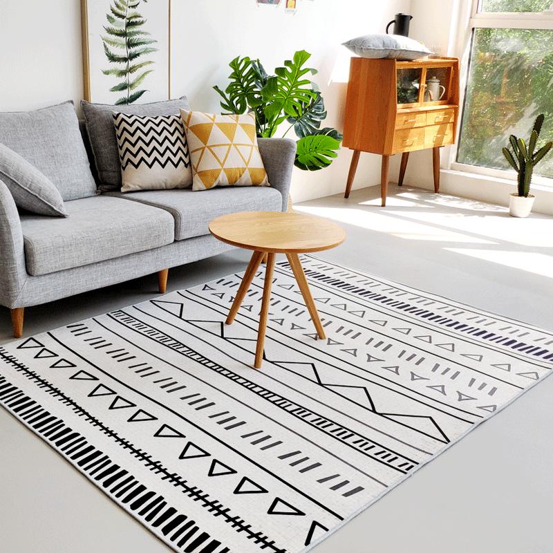 北欧客厅地毯简约现代沙发茶几垫日式民宿摩洛哥ins风卧室床边毯