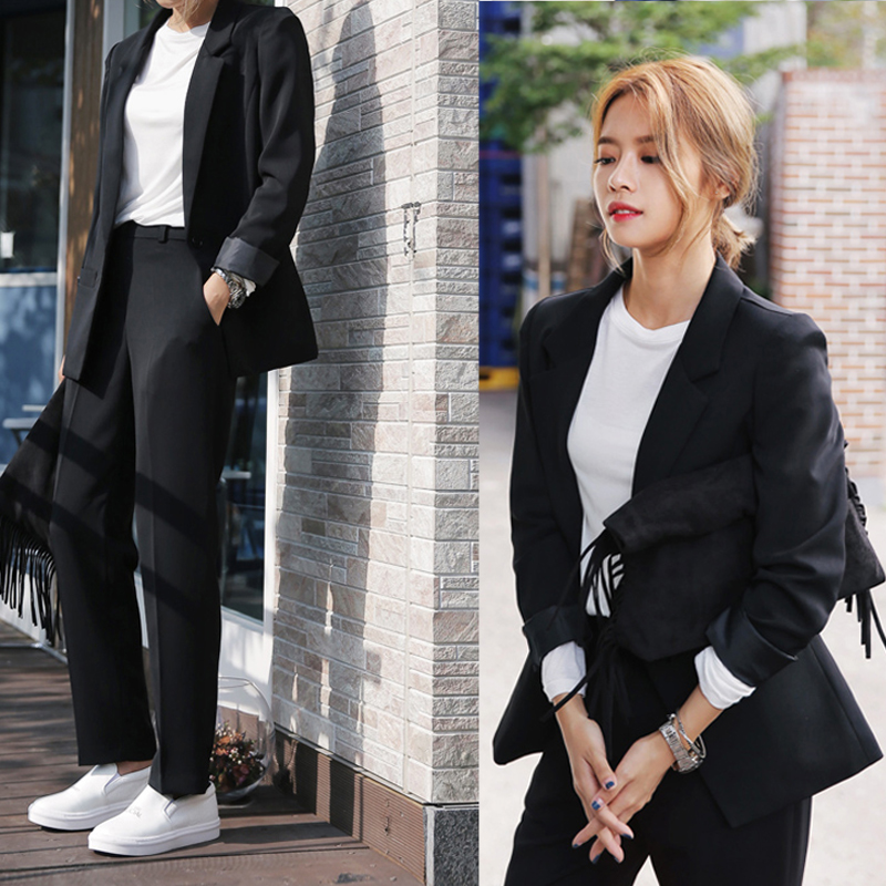 Small blazer 2021 spring new casual formal Korean version loose professional net red suit suit female British