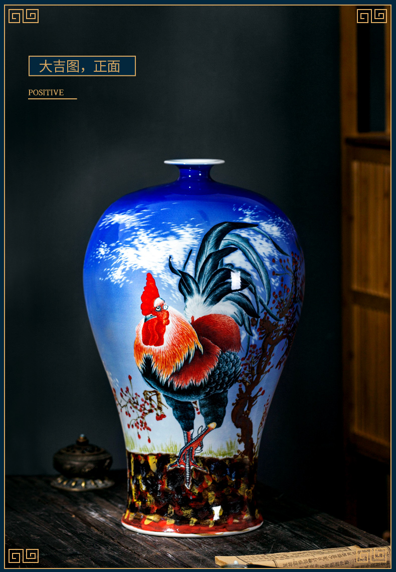 Jingdezhen ceramic vase furnishing articles rich ancient frame large new Chinese famous household the sitting room porch decoration