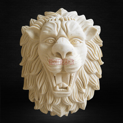 Ouya artificial stone art sandstone engraving garden villa stereo sprinkler pendant lion head water view flow water spout