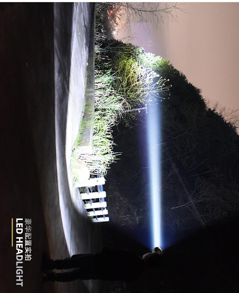 头灯强光充电超亮感应氙气头戴式户外手电筒钓鱼专用夜钓矿灯详细照片